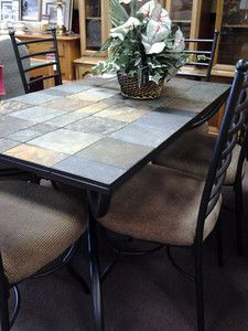 1000 Images About Wrought Iron Tile Top Table On Pinterest Slate Tiles Slate And Coffee