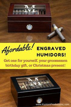 Humidor Cigar Lover Desk Top Groomsmen Gift Birthday