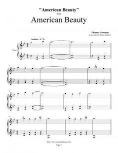 American Beauty Thomas Newman Piano Plateau Sheet Music