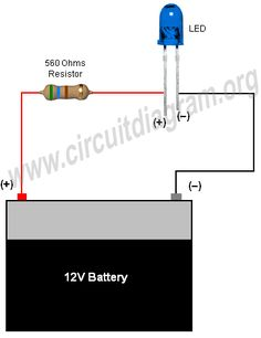 connecting led strip to 12 volt car battery power supply wiring diagram  Google Search | Bus Ta