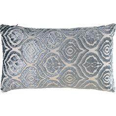 Marlo Lorenz Blue Velvet Damask Cushion Xcm With