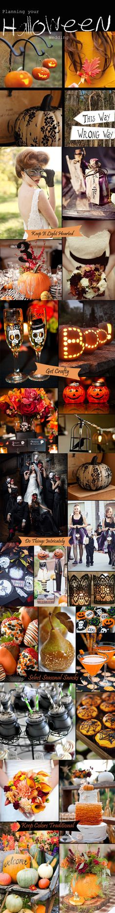 Halloween wedding ideas~ #Halloween #wedding