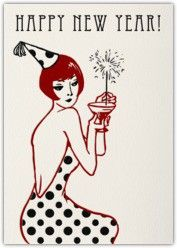 art deco new year poster