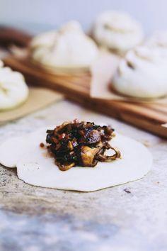 bbq mushroom steamed