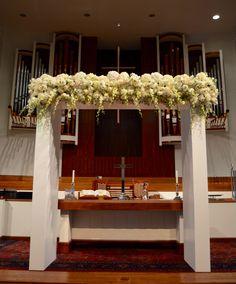 White modern wedding