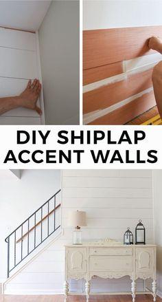 DIY Shiplap Accent W