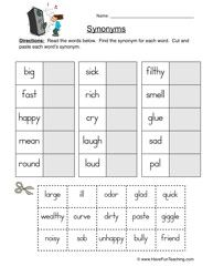 Antonyms Worksheet Write The Anytonym Of The Underlined