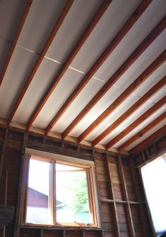 Stained Exposed Ceiling Joists Looks Like On Purpose