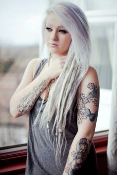 white dreads on pinterest synthetic dreads red dreads and dreadlocks girl