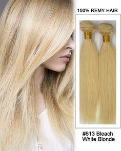 20 613 bleach white blonde body wave weave remy human hair extensions feshfen hair weave