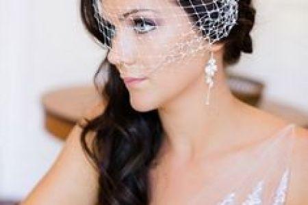 Imágenes de Wedding Hairstyle With Birdcage Veil