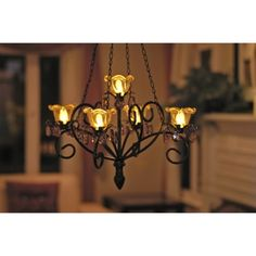 Outdoor Chandelier At Target With Programmable Timer Battery Operated Lights Flicker Love It When We Get Gazebo