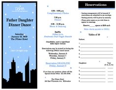 Father Daughter Dance Flyers Pinterest Daughters