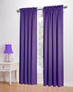 Purple Bedroom Ideas Sun Zero Curtains