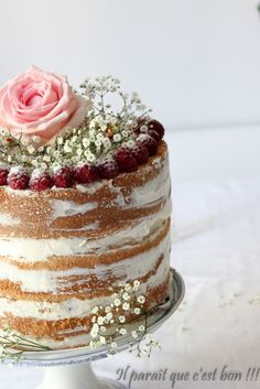 Naked cake, gâteau d