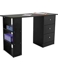 Buy New Malibu 3 Drawer Desk White At Your