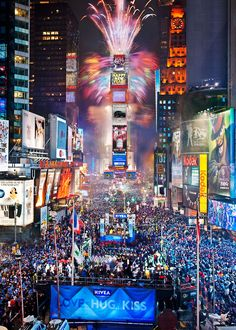 Going to Times Square is one of the fun things to do for New Year's that don't involve drinking!