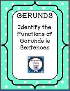 Gerund Worksheet Bundle With Exam From
