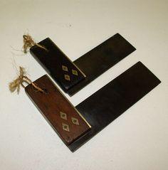 Vintage Pair of Set Squares Brass Fitting Carpentry Carpenter Woodwork ...