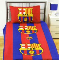 Fc Barcelona Single Duvet Cover Set And 1 Pillowcase Official In Stock Now Dim