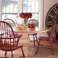 1000 Ideas About Red Dining Chairs On Pinterest