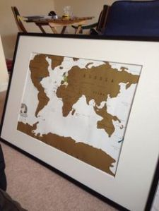 Framed Scratch Map Path Decorations Pictures Full Path Decoration - Framed scratch world map