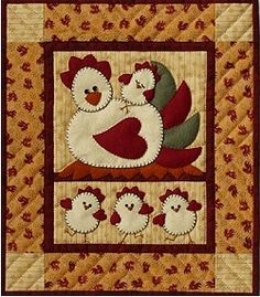 Chicken Quilt On Pinterest Quilting Appliques And Quilt
