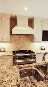 1000+ images about Granite with white cabinets on ... on Typhoon Bordeaux Granite Backsplash Ideas  id=11474