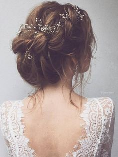 45 most romantic wedding hairstyles for long hair updo wedding and hair accessories