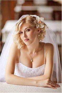 veils for short shoulder length hair on pinterest