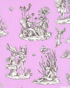 Flower Fairies Toile Lilac Purple