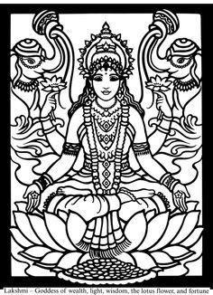 Coloring Pages Of Goddesses For Free Hindu Gods And Goddesses Stained Glass Coloring Book Dover Coloring Coloring Pages Coloring Book Pages