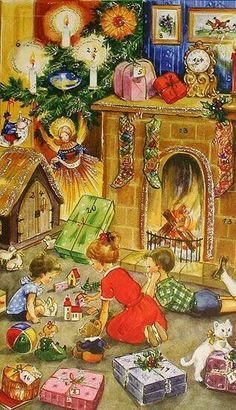 NAVI POSTALES On Pinterest Vintage Christmas Cards