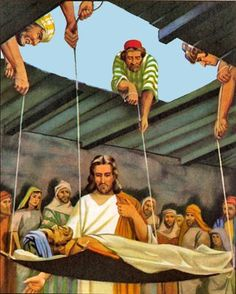 1000+ images about Jesus and Paralyzed Man - Roof on ...