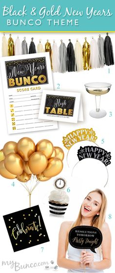 bunco new year themes