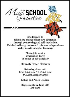 Middle school graduation invitations inviview find eighth grade graduation caps galore announcement and filmwisefo