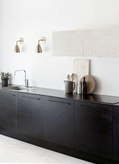Sleek black kitchen