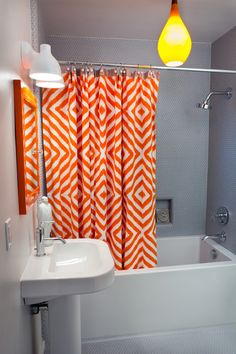 1000 Images About Bathroom Makeover On Pinterest Orange Grey Bath Towels And Orange