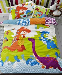 Mainstays Kids Dino Roam Bed In A Bag Bedding Set Bed