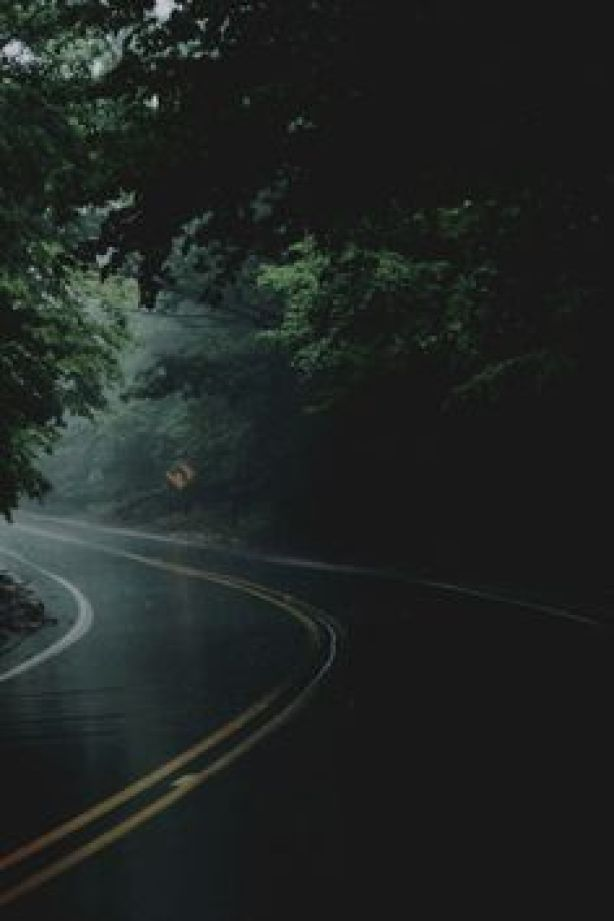 Image result for rainy night on curvy mountain road