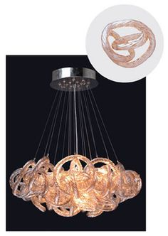Infinity Chandelier With Champagne Glass In Chrome Finish Small Contemporary Chandeliers