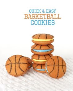 Basketball Cookies Nilla Wafers And Edible Ink Marker Mom Needs To Make These In