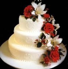 Red And Silver Anniversary Cakes Design Wedding Cakes