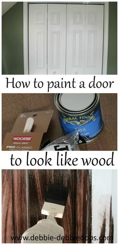 Painting A White Door To Look Like Wood I Should