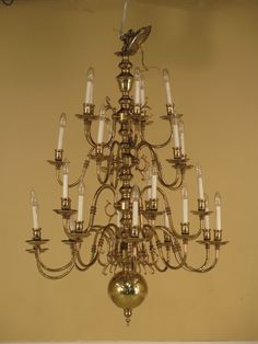 Virginia Metalcrafters Chandelier 24977e Williamsburg Style 25 Arm Large Brass