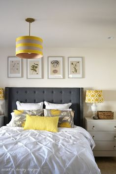 Yellow Gray Bedroom Have Wanted To Do This For A Long Time