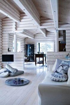 Painting Log Home Interior