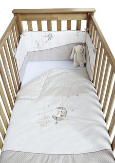 Clair De Lune Bedtime Story Cot Bed Quilt And Per Set