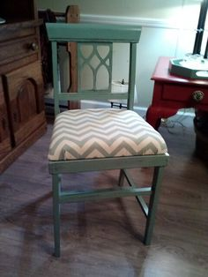 Thrifted Wooden Chair Painted With Diy Chalk Paint Made Valspar Waxed Ascp Clear