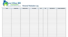 Repositioning Log Printable Medical Form Free To Download